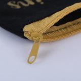 Piccolo sacchetto della chiusura lampo della tela di canapa del sacchetto cosmetico su ordinazione della stampa