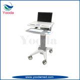Carretilla médica del hospital y del ordenador médico del sitio de trabajo