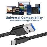 Tipo trançado de nylon cabo do USB de C para o interruptor da galáxia S8 Nintendo de Samsung