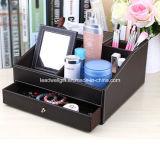 De multifunctionele Juwelen van het Leer Faux en de Kosmetische Lade van de Organisator van de Desktop van de Organisator van de Make-up