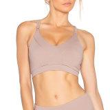 Custom Label privé Vêtements d'entraînement des jeunes filles Soutien-gorge de Yoga transparente