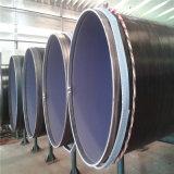 pipe en acier soudée spiralée de l'enduit LSAW de 2PE 2PP pour le transport de l'eau