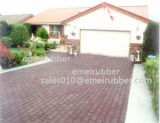 Durable Red Outdoor Driveway Rubber Paver Mats