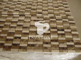 金属の象眼細工(BW001)が付いている石造りの斜子織またはモザイク模様、パターンモザイクボーダーまたは円形浮彫りの床タイルか斜子織