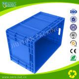 Recipiente logístico plástico com tampa articulada