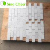 El mármol blanco de Carrara afiló con piedra pedazos del mosaico del mármol del azulejo de mosaico del hexágono de 2 pulgadas