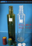 bottiglia di vetro trasparente dell'olio di oliva 250/500/750/1000ml con il coperchio di plastica