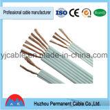 Cable eléctrico de cobre aislados en PVC flexible Cable plano Rvvb