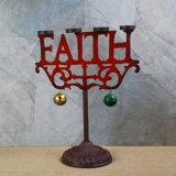 Suporte de vela do Natal, suporte de vela da luz do chá do molde da fé
