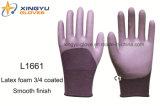 Пена латекса раковины полиэфира 3/4 покрытых перчаток работы безопасности (L1661)