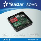 Yeastar 32のユーザーの現実的な完全特色にされた埋め込まれたハイブリッドIP PBX