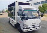 Caminhão de anúncio móvel de Isuzu 4*2 5 de diodo emissor de luz toneladas de veículo do indicador