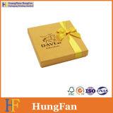 Rectángulo de empaquetado del chocolate de la impresión de papel de oro