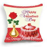 Площадь с радостью в День Святого Валентина Дизайн ткань подушка с заполнением