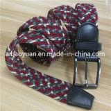 Rojo y gris de la correa de tejido trenzado de hilos de poliéster