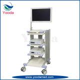 Krankenhauspatient-Monitor-Karre mit Fußrollen