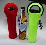 안전한을%s 가진 여행을%s 포도주 운반대 끈달린 가방 2 병 내오프렌 포도주 또는 물병 홀더는 손잡이를 전송한다