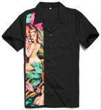 Gota por atacado que envia camisas americanas havaianas ocidentais do tamanho para homens