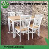 Tipo tabela e cadeira da madeira de carvalho de jantar