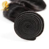 ペルーのバージンの毛ボディ波加工されていないバージンの毛3束の人間の毛髪の織り方7Aの等級の