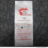 Venda por grosso de cetim impresso Cuidados suaves etiquetas para roupa