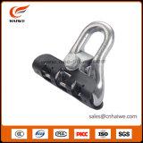 Braçadeira plástica apropriada da escora da braçadeira da suspensão da braçadeira de fio da energia eléctrica
