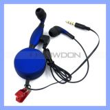 3.5mm Stylish Color Metal Stereo Earphone mit Mic für Handys Media Player-Computer