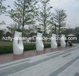 Plantadeira de fibra de vidro decorativo grande