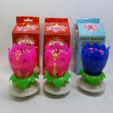 Candela di Roating della candela di compleanno di colore