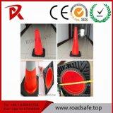 ベースが付いている多色刷りのトラフィックの道PVC安全円錐形