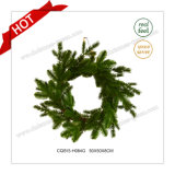 '' сезонный пластичный зеленый коммерчески венок рождества 22