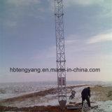 Torretta di telecomunicazione galvanizzata del radar di Guyed della grata d'acciaio