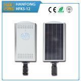 Tutti in un indicatore luminoso solare di disegno IP65 12W LED