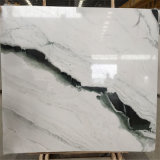 Lajes de mármore brancas da panda altamente Polished, classe chinesa um mármore branco da laje da panda barata do preço