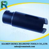 Morceaux de foret de faisceau de diamant de Romatools avec des segments protecteurs pour le granit, marbre