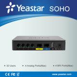 IP PBX гибрида потребителей Yeastar 32 допустимый Полн-Отличаемый врезанный