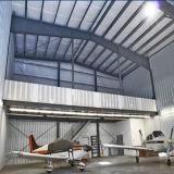 前設計された鉄骨構造の航空機の格納庫