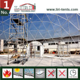 Шатер купола половинной сферы Dia 30m-60m для напольного случая