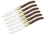 Couteau de Laguiole steak en acier inoxydable avec manche en bois Pakka (SE-K7890)