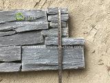 上の販売の自然で黒いスレートによってスタックされるセメントの壁パネル