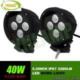 5.5inch 40Wのクリー族自動働くランプLED作業ライト