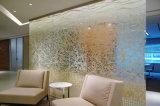 강화 유리를 인쇄하는 실크 스크린은, 장식적인 유리를 벽으로 막는다
