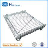 Gaiola de aço Foldable do armazenamento do engranzamento da alta qualidade