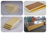 9-12mm Densité 0.5g / cm3 Solid Rigide WPC PVC Celuka Foam Board pour la fabrication de toilettes portatives