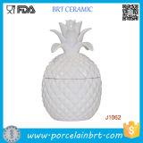 Scatola metallica di ceramica personalizzata del vaso/supporto della candela di stampa con coperchio di bambù/di ceramica