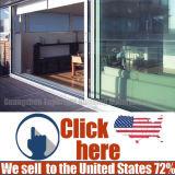 Portello scorrevole di alluminio di vendita calda per il salone con vetro Basso-e