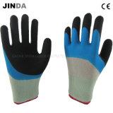Латекс труда с покрытием из пеноматериала защитные промышленные рабочие перчатки (NH302)