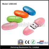 USB di plastica Pendrive (USB-045) di figura del fagiolo di vendita della fabbrica