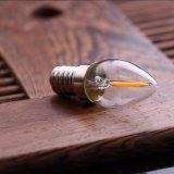 Do bulbo retro do filamento do diodo emissor de luz da lâmpada 0.5W de C7 Edison branco morno