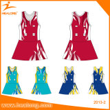Спортивная одежда Healong женщин нетбол Bodysuit сублимации красителей с коротких замыканий форму
